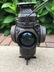 Adlake Non Sweating Railroad Switch Lantern Excellent 4-way Signal $74.99