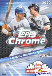 2020 Topps Chrome Baseball Factory Sealed HANGER Box with Topps Update Previews $32.95