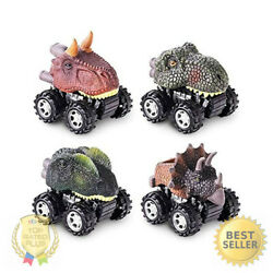 Pull Back Dinosaur Toys 4-pack for 2 3 4 5 Year Old Boys and Girls Dinosaurs Car $11.09