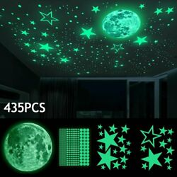 435pcs Glow In The Dark Luminous Stars amp; Moon Wall Stickers Decal Kid Room Decor $10.29