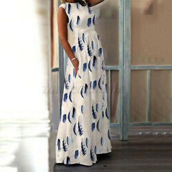 Women Sleeveless Bohemia Beach Dress Long Sundress Loose Party Holiday Dresses $12.87