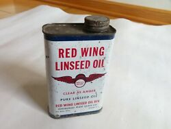 Vintage RED WING LINSEED tin oil can Pittsburgh Plate Glass Co. $10.50