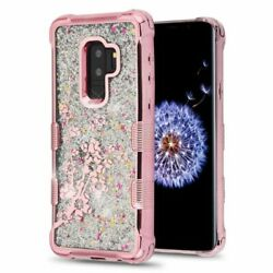 For Samsung Galaxy S9 Plus Rose Quicksand Gold Spring Flowers Hard Case Cover $11.29