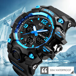 Fashion Military Men#x27;s Sport Digital Quartz Analog 50M Waterproof Wrist Watch US $14.91