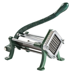 3 8quot; Green Countertop Cast Iron French Fry Cutter Potato Cutter Slicer $55.08