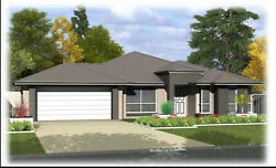 Custom 4 Bedroom 2 Bathroom with Home House Building Plans With Garage CAD File $9.99