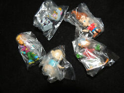 Nickelodeon Figures Series 1 Set of 5 Mini Bobble Heads Jimmy Neutron Tommy 2quot; $6.95