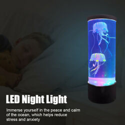 LED Night Light Fantasy Bedside USB Charging Hypnotic Jellyfish Color Changing C $34.99