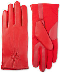 Isotoner Women#x27;s Stretch Leather Touchscreen Gloves Red S M $19.80