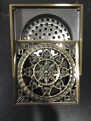 Bathroom Antique Brass Floor Drain Shower Floor Embedded Cover Carved $17.95