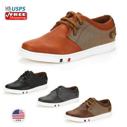 Men#x27;s Lightweight Oxford Sneakers Lace Up Casual Walking Shoes $25.37