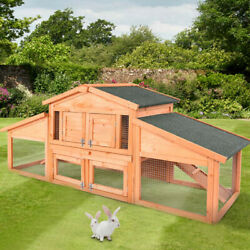 Elevated Outdoor Small Animal Backyard Wooden Weather Resistant Rabbit Hutch $139.99