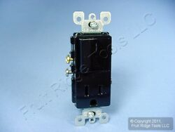 Leviton Black Decora Rocker Light Switch Receptacle Power Outlet 15A 125V 5625 E