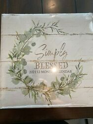 Simply Blessed 2021 Inspirational 12 month Calendar $6.99