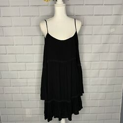 PATRONS OF PEACE black Boho dress Urban outfitters. L $35.00