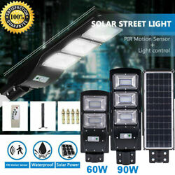90W 990000LM Solar LED Street Light Commercial Outdoor IP67 Security Road Lamp
