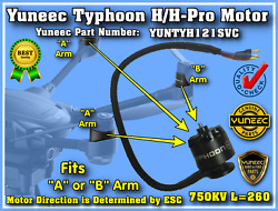 Yuneec Replacement Motor: Typhoon H H Pro YUNTYH121SVC $19.99