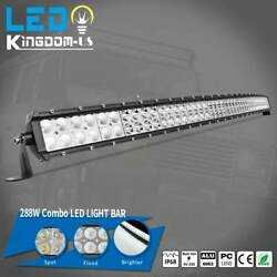50inch 288W Curved LED work Light Bar spot flood driving offroad bar ATV UTE 4WD $46.99