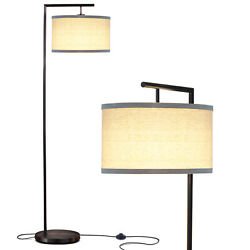 Brightech Montage Modern Drum Shade Standing Floor LED Smart Lamp Shade Black $84.99