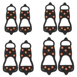 8 Studs Ice Shoe Spiked Grips Cleat Crampons Climbing Anti slip Shoes Cover New $9.43