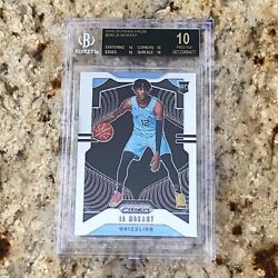 2019 20 Panini Prizm Ja Morant Rookie BGS 10 Black Label RARE POP 14 ROY $9999.00