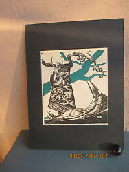 vintage illustration of death of Beowulf by Henry C. Pitz 1934 $20.50