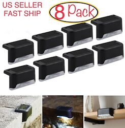 8 Pack Solar Powered LED Deck Lights Outdoor Path Garden Stairs Step Fence Lamp $16.99
