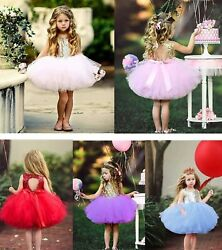 Kids Baby Flower Girls Party Dresses Princess Sequins Dress Wedding Bridesmaid $45.24