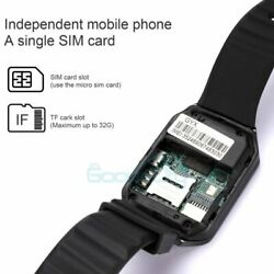 2021 Waterproof Bluetooth Smart Watch Phone Mate For IOS Android Black $22.79