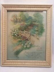 Art Pub Co Chicago Ill. Vintage Framed quot;For You Motherquot; Poem Donald Art Company $15.00