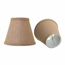 Double Mesh Small Lamp Shade Clip On Bulb Set of 2 for small Brown $28.19