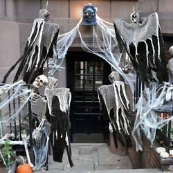 Halloween Skull Skeleton Ghost Hanging Decor Terrible Scary Party Haunted Props $10.59