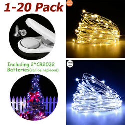 2M LED Battery Operated LED Copper Wire Fairy String Lights Christmas Decor Bulk $7.99