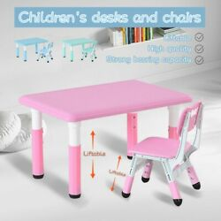 Children#x27;s Combined Study Table Plastic Work Table Can Be Raised And Lowered $215.38
