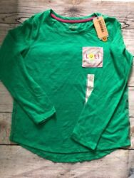 Cat amp; Jack Girls#x27; Long Sleeve LOL Shirt Green LARGE #JV251 $7.99