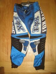 FOX 360 Racing BMX Motorcycle ATV Motocross Riding Pants Adult 28 Blue Black EUC $34.99
