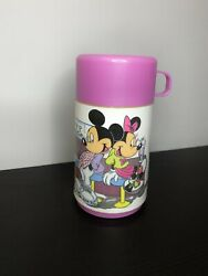 Aladdin Vintage Disney Mickey And Minnie Pink Thermous $18.99