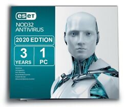 ESET NOD32 ANTIVIRUS 2020 3 YEAR 1 PC EMAIL DELIVERY $17.99