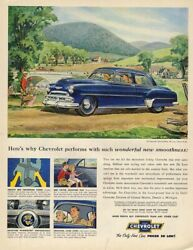 Performs with such winderful new smoothness Chevrolet Styleline ad 1952 LK $9.99