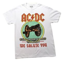 AC DC Mens For Those About To Rock We Salute You Shirt New M L $9.99