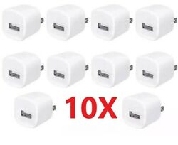 10 x 1A USB Home Wall Charger AC Adapter Plug For iPhone 5 6 7 8 X 11 MAX White $11.99