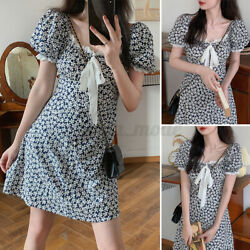 Womens Summer Short Sleeve Floral Party Club Holiday Dresses Loose A Line Dress $11.95
