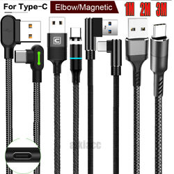 Wholesale Led 3M 2M 1M Elbow Type C USB C Charger Cable Charging F Samsung S10 9