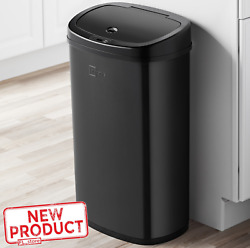 Trash Can Garbage Touchless Sensor Automatic Stainless Steel Kitchen Waste Black $50.15
