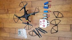 Syma Quadcopter Drone w HD Camera with extra batteries motors etc. $16.00