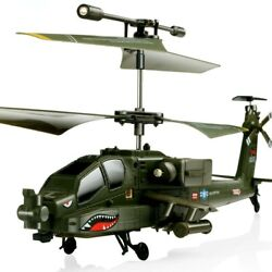 SYMA S109G 3.5CH Beast RC Helicopter RTF AH 64 Military Model Kids Toy $45.95