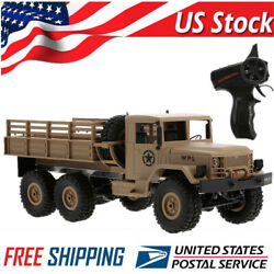 WPL RC Car 1 16 Rock Crawler Off Road 6WD Military Truck W Light Kids Gift A2Q4 $42.79