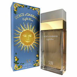 Dg Light Blue quot;Sunquot; For Women By Dolce And Gabanna 3.4 Oz Eau De Toilette Spray $45.58