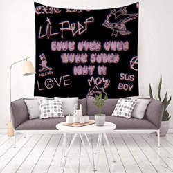 YouZiKu Creative Lil Peep Logo Tapestry Wall Hanging for BedroomLiving Room x $30.86