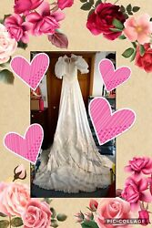 Approximately Size 12 Wedding Gown From 1980's $50.00